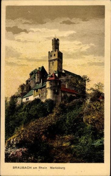 10 Ak Braubach am Rhein, diverse Ansichten