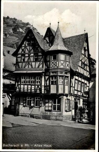 7 alte Ak Bacharach am Rhein, diverse Ansichten