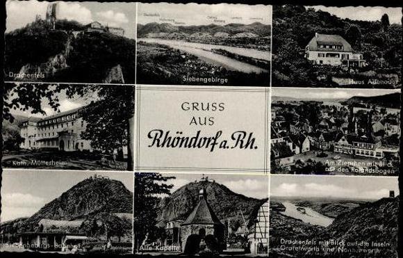10 Ak Bad Bad Honnef am Rhein, diverse Ansichten