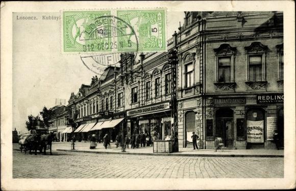 Ak Lučenec Lizenz Losoncz Slowakei, Straßenpartie, Geschäfte