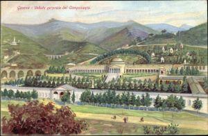 Künstler Ak Genova Genua Ligurien, Veduta generale del Camposanto