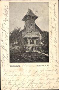 Ak Münster in Westfalen, Tuckesburg, Gesamtansicht
