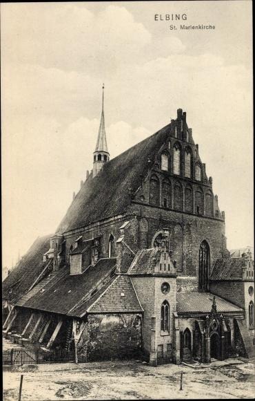 Ak Elbląg Elbing Westpreußen, St. Marienkirche