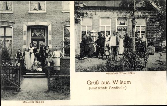 Ak Wilsum Niedersachsen, Hofbesitzer Damink, Wirtschaft Witwe Hölter