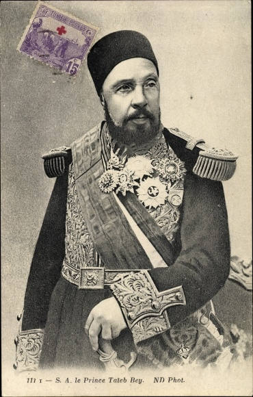 Ak Le Prince Taieb Bey, Tunesischer Prinz, Portrait