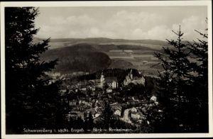 Ak Schwarzenberg im Erzgebirge Sachsen, Totalansicht vom Ort