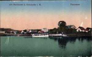 Ak Grünheide Alt Buchhorst in der Mark, Panorama vom Ort, Uferpartie