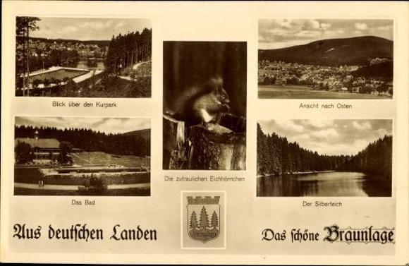 10 alte Ak Braunlage im Oberharz, diverse Ansichten 6