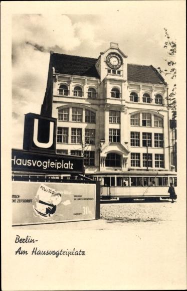 Ak Berlin, Am Hausvogteiplatz, U-Bahn, Straßenbahn