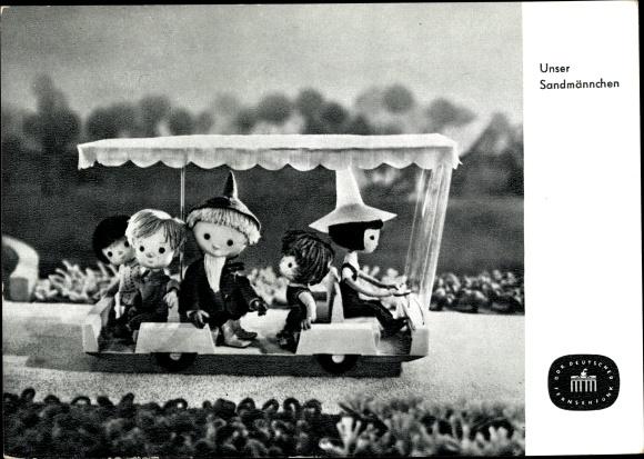 Ak Unser Sandmännchen, Sandmann, DDR Kinderfernsehen, Gärtnerin, S 125