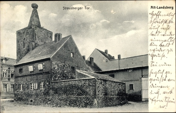 Ak Altlandsberg in Brandenburg, Strausberger Tor