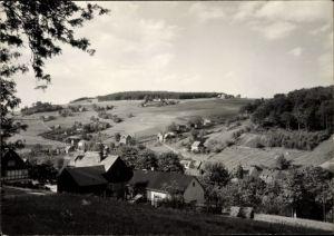 Ak Rittersgrün Breitenbrunn Erzgebirge, Panorama vom Ort, Felder