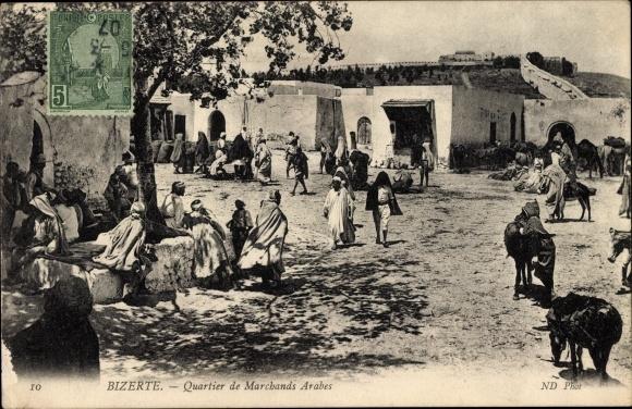 Ak Bizerte Tunesien, Quartier de Marchands Arabes