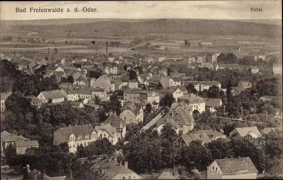 Ak Bad Freienwalde an der Oder, Totale vom Ort