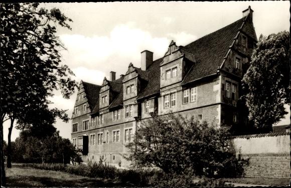 Ak Hessisch Oldendorf an der Weser, Münchhausenhaus, Seitenansicht