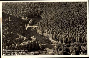Ak Bad Dürkheim am Pfälzerwald, Fliegeraufnahme, Waldgaststätte Forsthaus Isenach, Bes. Krauß