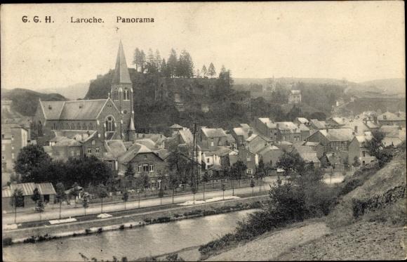 Ak La Roche en Ardenne Wallonien Luxemburg, Panorama
