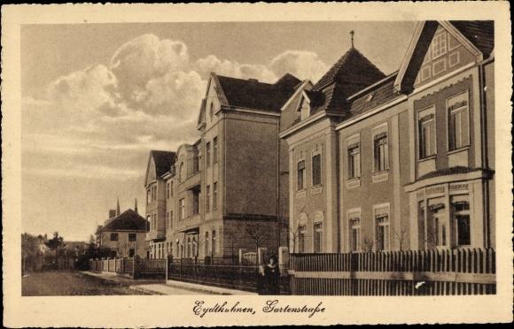 Ak Tschernyschewskoje EydtkauEydtkuhnen Ostpreußen, Gartenstraße