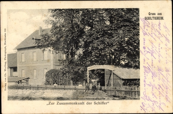 Ak Schiltigheim Elsaß Elsass Bas Rhin, Zur Zusammenkunft der Schiffer