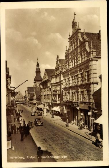 Ak Tschernjachowsk Insterburg Ostpreußen, Hindenburgstraße