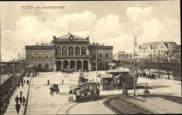 Ak Poznań Posen, Hauptbahnhof, Dworzec Główny