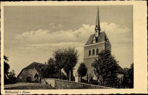Ak Mellendorf Wedemark Niedersachsen, Kirche, Friedhof
