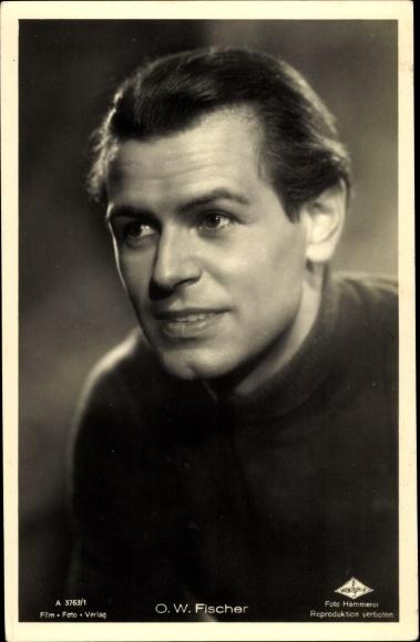 Ak Schauspieler O. W. Fischer, Portrait