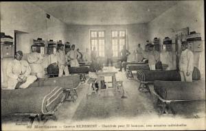 Ak Montlucon Allier, Caserne Richemont, Chambrée pour 15 hommes
