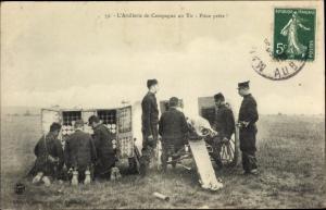 Ak L'Artillerie de Campagne au Tir, Pièce prête, Beladen einer Kanone, Projektile