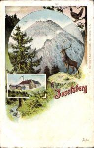 Ak Brotterode Trusetal in Thüringen, Inselsberg, Preussischer Gasthof, Hirsch