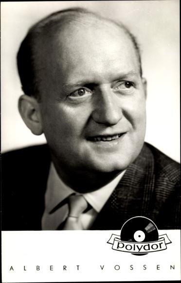 Ak Sänger Albert Vossen, Portrait, Polydor Schallplatten