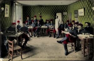 Ak Französisches Militär, Les Plaisirs de la Caserne, Mess des sous officiers, Unteroffiziersmesse