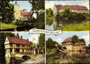 Ak Burgsteinfurt Steinfurt in Nordrhein Westfalen, Torhaus des Schlosses Burgsteinfurt, Schlossmühle