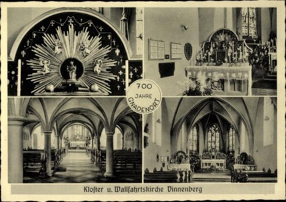 Ak Milte Warendorf in Westfalen, Kloster und Wallfahrtskirche Vinnenberg