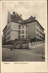 Ak Lutherstadt Eisleben Sachsen Anhalt, Städtische Oberrealschule