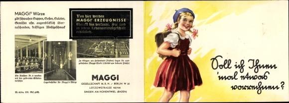 Klapp Ak Maggi GmbH, Berlin, Lützowstraße 102/104, Singen Hohentwiel, Schulmädchen, Preise