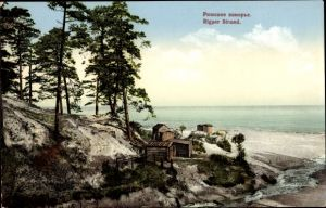 Ak Jūrmala Rigaer Strand Lettland, Strandszene