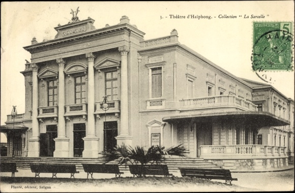 Ak Hai Phong Tonkin Vietnam, Théâtre, Theater, Vorderansicht