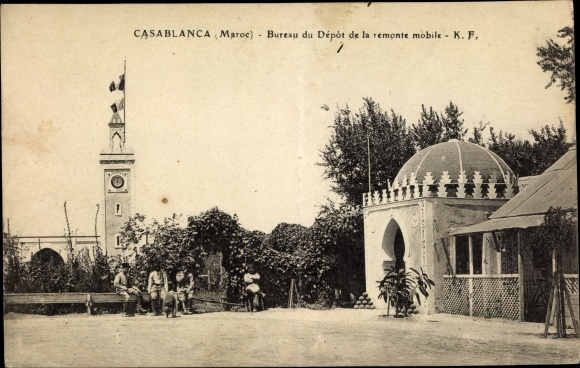 Ak casablanca marokko bureau du dépôt de la remonte mobile nr