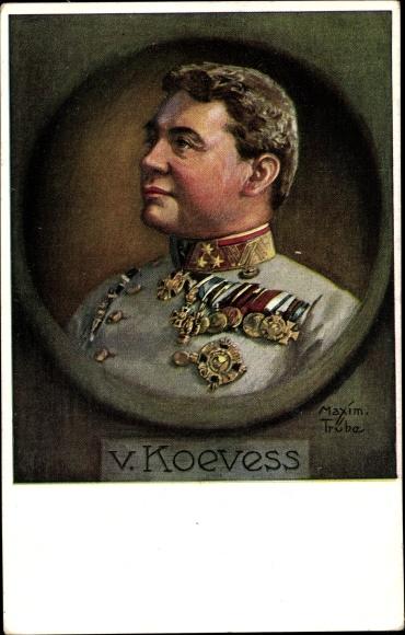Künstler Ak Trübe, Maxim, Hermann Kövess von Kövesshaza, Portrait