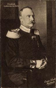Ak Großherzog Friedrich II. von Baden, Portrait
