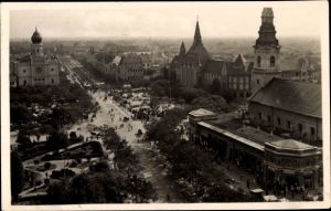 Ak Kecskemét Ketschkemet Ungarn, Latkep, Totalansicht, Synagoge