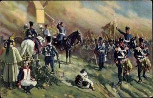 Künstler Ak Die Völkerschlacht 1813, General Bülow bei Dennewitz
