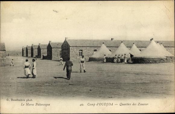 Ak Oudjda Oujda Marokko, Camp militaire, Quartier des Zouaves