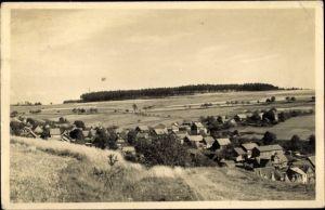 Ak Waffenrod Hinterrod Eisfeld in Thüringen, Blick auf den Ort