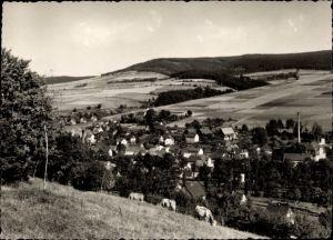 Ak Pöhla Schwarzenberg im Erzgebirge Sachsen, Panorama vom Ort