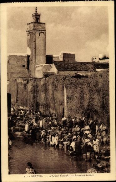 Ak Sefrou Marokko, L'Oued Essouk, les laveuses juives