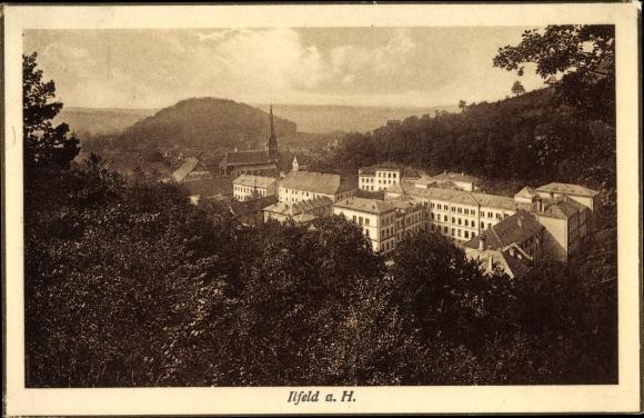 Ak Ilfeld Harztor in Thüringen, Totalansicht vom Ort