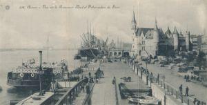 Klapp Ak Antwerpen Anvers Flandern, Vue sur le Promenoir Nord et Débarcadère du Steen