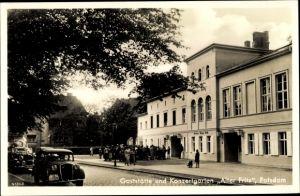 Ak Potsdam in Brandenburg, Gaststätte Konzertgarten Alter Fritz, Inh. Paul Bosek, Autos